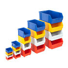 Plastic Parts Bins Assorted Colours Storage Garage Boxes Pick Bin Clearance