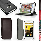 PU Leather Skin Folio Case for Motorola Moto E 2nd Gen XT1524 Flip Stand Cover