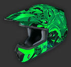 HJC CS-MX II Graffed Adult Off Road MX SX Helmet MC-4 Green Black