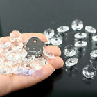 HIERKYST 14mm Octagonal Crystal Beads Decoration Chandelier Prisms Parts 2-Hole