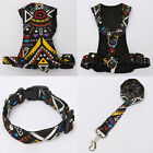 Soft Mesh Floral Adjustable Pet Harness Dog Cat Walking Leash Collar Strap Vest