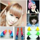 New 2X Halloween Stereo Devil Horns Ears Clip Double Hairpin Corner Hair Jewelry