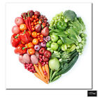 Food Kitchen Fruit & Veg Heart  BOX FRAMED CANVAS ART Picture HDR 280gsm