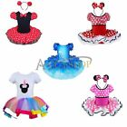 Christmas KID Xmas MINNIE MOUSE GIRL Ballet Age 1-10Yrs Girl Fancy Dress Costume