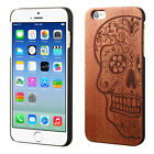For Apple iPhone 6 / 6s Hard Wood Back Protector Slim Phone Case +Screen Guard