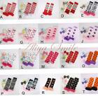 Newborn Baby Toddler Girls Floral Lace Legging Socks Xmas Halloween Leg Warmers