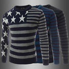 New Fashion Mens Slim Fit Long Sleeve Shirt Casual Dress Shirts T Shirt Knitwear