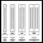 RADIATOR - 2 COLUMN HORIZONTAL - CLASSIC DESIGN