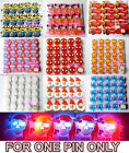 1pc Flash LED Light Glow Badge Pin Brooch Kids Costumes Birthday Xmas Party Prop