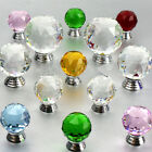 30/40mm Crystal Glass Door Knobs Drawer Cabinet Furniture Kitchen Handle Pull