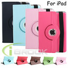 360 Rotating Folio PU Leather Smart Stand Case Cover for Apple iPad Mini 4 Air 2