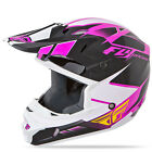 Fly Racing 2015 ADULT Ladies Kinetic Impulse MX ATV BMX Pink Helmet YS-XL
