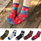 Women Men Winter Sock Christmas Xmas Gift Warm Cartoon Wool Snowflake Deer Socks