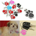 5/10pcs Paw Pet Dog Cat ID Name Collar Necklece Identity Tag Blank Keychain Gift