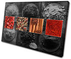 Food Kitchen Herbs Spices Indian   CANVAS WALL ART Picture Print VA