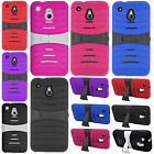 For AT&T HTC ONE MINI HYBRID Hard Gel Rubber KICKSTAND Case Phone Cover