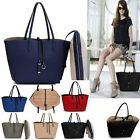 Ladies Women's Fashion Large Shopper Bags Handbags Tote Reversible Double Side