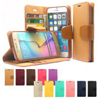 New Diary Kickstsnd Slim Flip Leather Wallet Case Cover For iPhone Galaxy LG