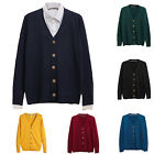 Men V-Neck Button Down Slim Fit Knitted Cardigan Sweater Casual Coat Jacket