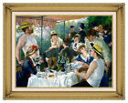 Luncheon of the Boating Party Pierre Auguste Renoir Repro Framed Wall Art Print