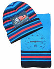 Boys Lightening Mcqueen Hat and Scarf Set Choice of Colours Think Double Ply Hat