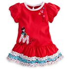 DISNEY STORE MINNIE MOUSE RUFFLE DRESS MATCHING BLOOMERS PUFF SLEEVES BABY