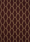 Brown Contemporary Curls Waves Ribbons Circles Area Rug United Weavers 550-36858