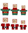 Christmas Pet Dog Puppy Outfit Fancy Dress Knitted Santa Elf Jumper Costume Sock