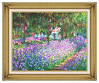 Framed Claude Monet The Artist's Garden at Giverny Canvas Art Print Reproduction
