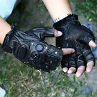 Tactical SWAT Airsoft Paintball Shooting Rivet Half Finger Gloves Bicycle Armed