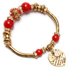 1x Hot Vintage Fashion Silver/Golden Heart Beads Alloy Charm Jewelry Bracelets L