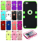 iPod Touch 6 6th Gen Rubber IMPACT TUFF HYBRID Skin Case Phone Cover Accessory