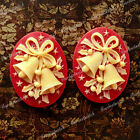 40x30 Oval Chirstmas Wreath/Tree/Candy Cane/Jingle Bell Holiday Resin Cabochons