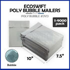 """1-9000 #0 DVD 7.5x10 """"EcoSwift"""" Poly Bubble Mailer Padded Envelope Bags 7.5 x 10"""