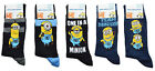 DESPICABLE ME MINIONS MENS WARM SPORT OFFICIAL ANKLE SOCKS - Size 6-11 (39-45)
