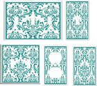 TURQUOISE DAMASK FLORAL LIGHT SWITCH COVER PLATE  1  U PICK  SIZE AND STYLE
