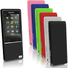 Silicone Gel Skin Case for Sony Walkman NW-A25 A27 Rubber Cover + Screen Prot