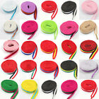 10mm FLAT WIDE 110cm or 120cm SHOE LACES *22 COLOURS*TRAINERS SNEAKERS UK SELLER