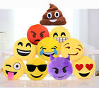 "Emoji Emoticon Yellow Round Cushion Stuffed Soft 12"" Pillow Plush Xmas Gift UK"