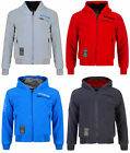 BOYS HOODED TOP FUR LINED ZIP UP JACKET HOODY PLAIN OFFICIAL BNWT