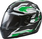 Z1R Phantom Frontier Green Helmet Adult XS-2XL