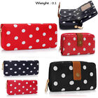 Ladies Women's Fashion Quality Polka Dot Bifold Purse Wallet Chic Coin Gorgeous