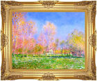 Spring in Giverny by Claude Monet Painting Reproduction Framed Giclee Art Print