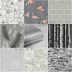 GREY PATTERNED WALLPAPER VARIOUS DESIGNS AND STYLES