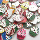 New 10/50/100/500pcs Cake Wood Round Buttons 19mm Sewing Craft T0807