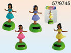 Hula Girl Figurine - Solar Powered Gift Dancing Pink Purple Blue Yellow Hawaii