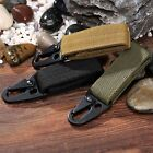 Tactical Nylon Molle Hanging Webbing Belt Carabiner Key Hook Buckle Strap Clip