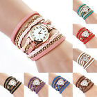 AA Women Vintage Fashion Faux Leather Bracelet Quartz Wrist Watch Wristwatches