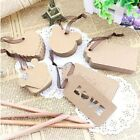 100pcs Kraft Paper Gift Tags Scallop Label Luggage Wedding Birthday Blank Card