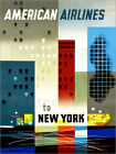 Poster / Leinwandbild American Airlines to New York vintage travel